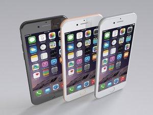 3D realistic apple iphone 8