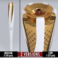 Pyeongchang 2018 Olympic Games Torch low poly