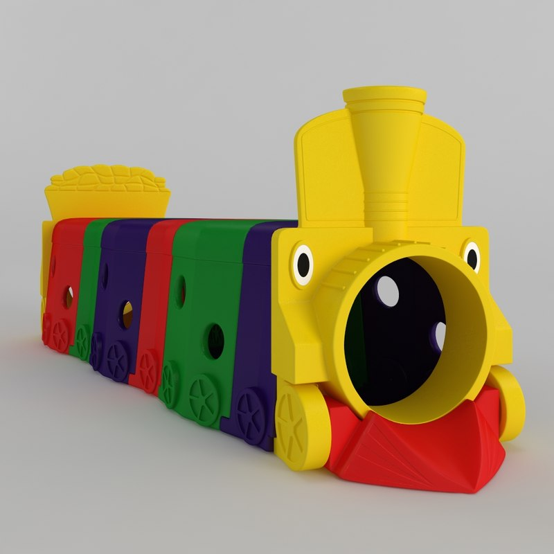 3D model playground train