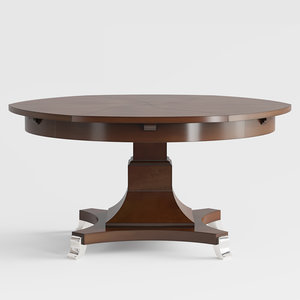 century radial dining table 3D model