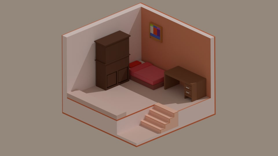 isometric room 3D