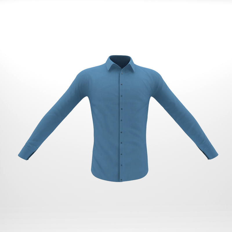 casual shirt male characters 3D model