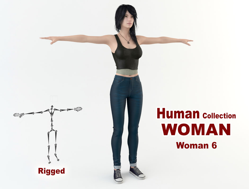 young woman 3D model