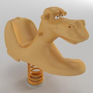 3D spring swing camel