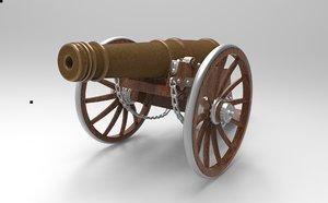 cannon artillery guns 3D