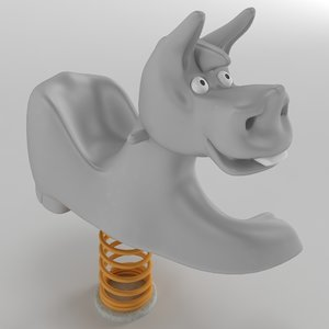 spring swing donkey model