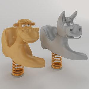 3D model spring swing