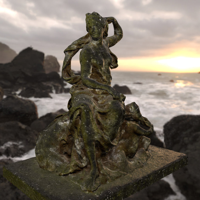 3D old statue model
