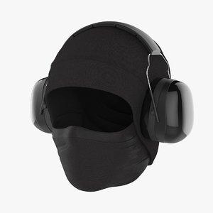 3D noise-cancelling headphones wintercap cloth