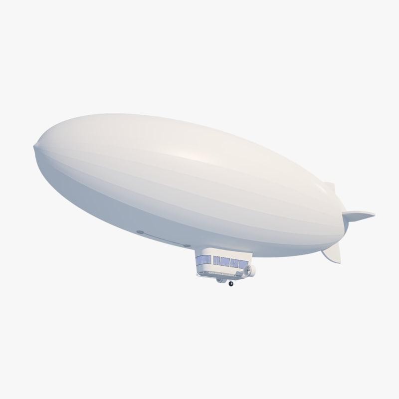 3D model blimp - hydrogen