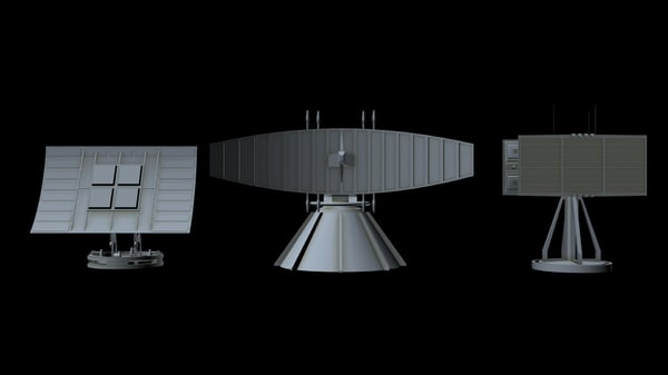 3D sci-fi radar