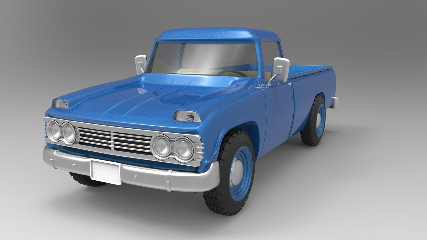 toyota old truck 3D model