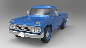 toyota old truck 3D model