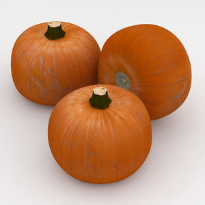 orange pumpkin 3D