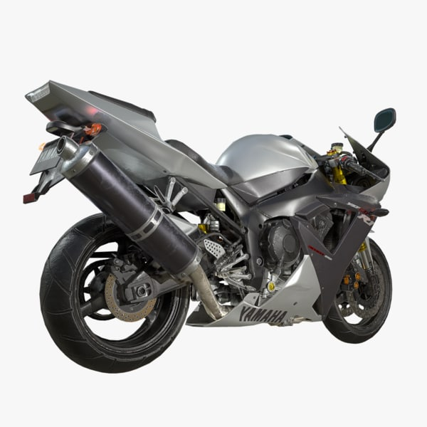 3D model low-poly yamaha yzf-r1
