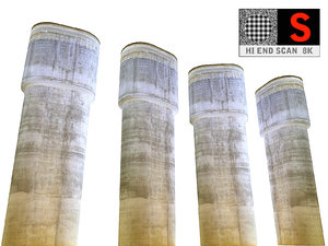 3D concrete pillar 8k