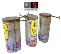 concrete pillar 8k 3D model