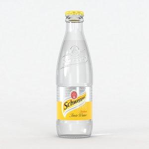3D schweppes tonic water model