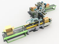 automatic packing line 3D