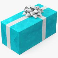 3D gift box 3 model