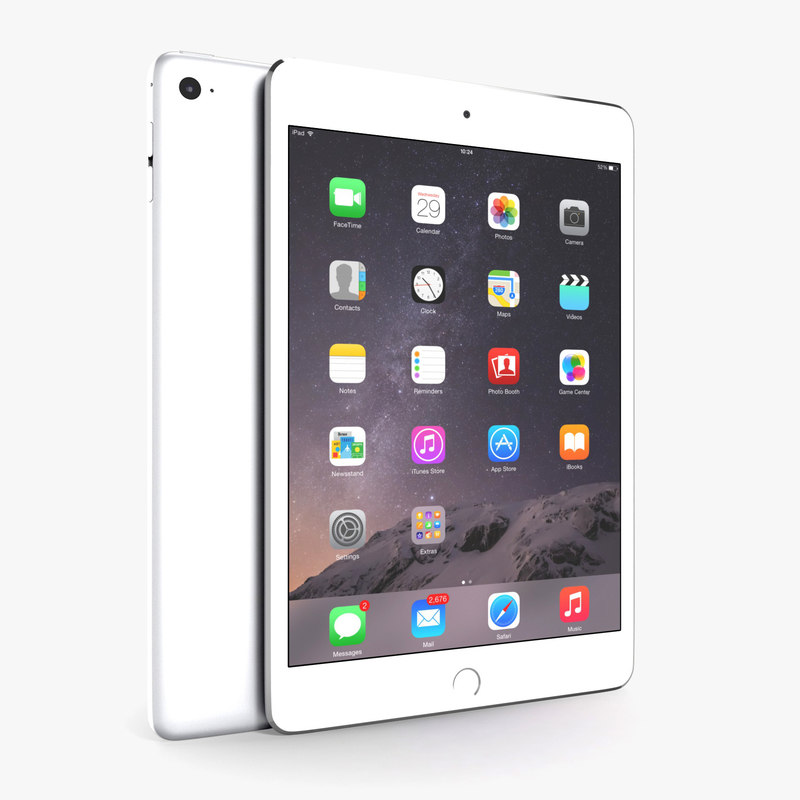 apple ipad mini 4 3D model