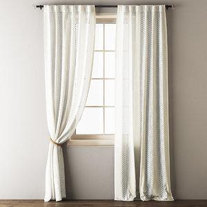 lace curtains 3D model