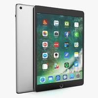 apple ipad space gray 3D model