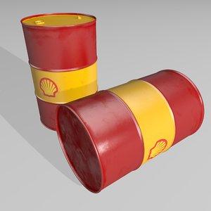 3D model barrel shell