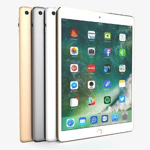 3D apple ipad 2017 colors