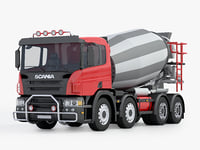scania construction truck 3D model