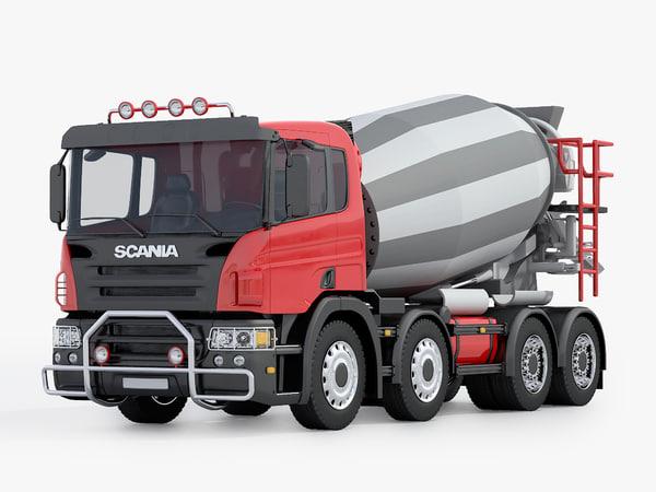 scania construction truck 3D model