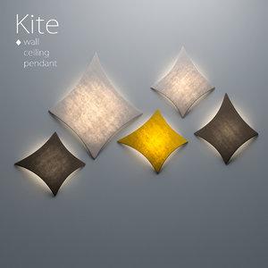 3D kite wall ceiling pendant