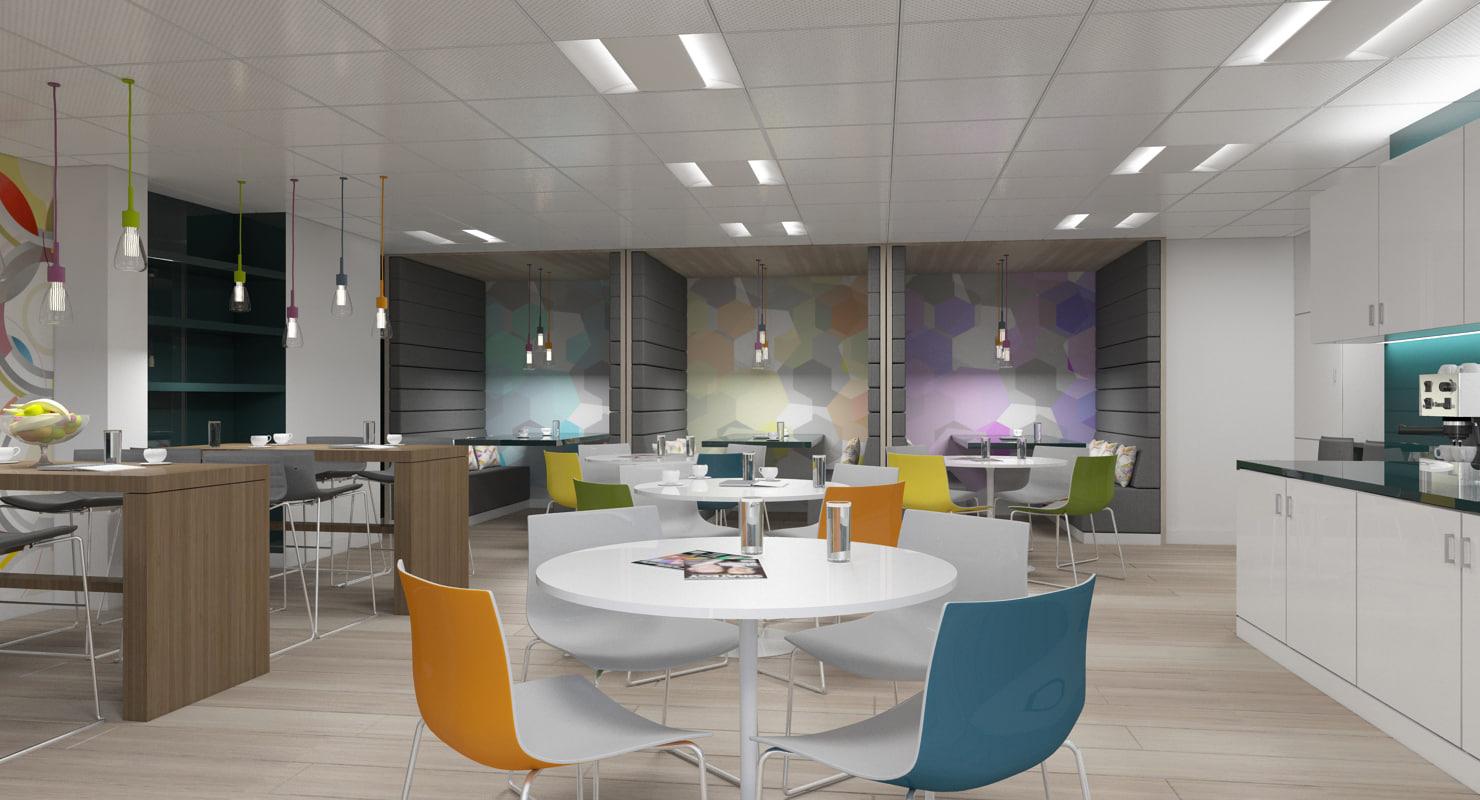 3D office interior 40 model