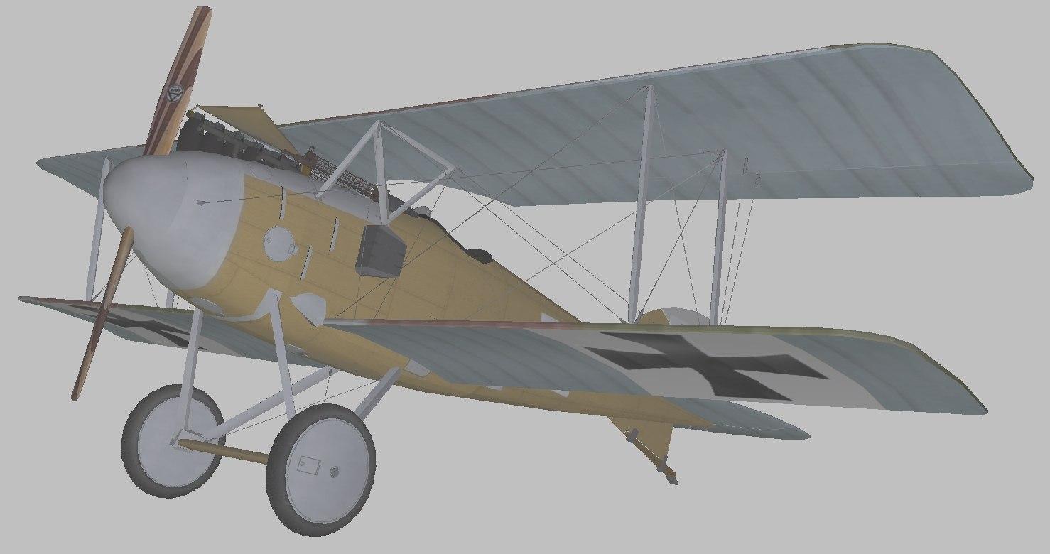 3D model albatros world war