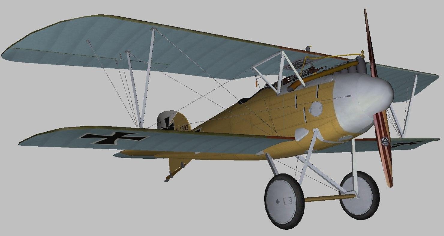 albatros world war 3D model