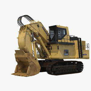 komatsu pc2000 excavator shovel 3D model