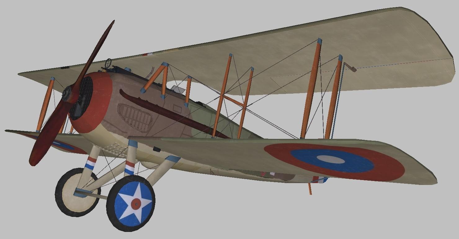spad world war 3D model