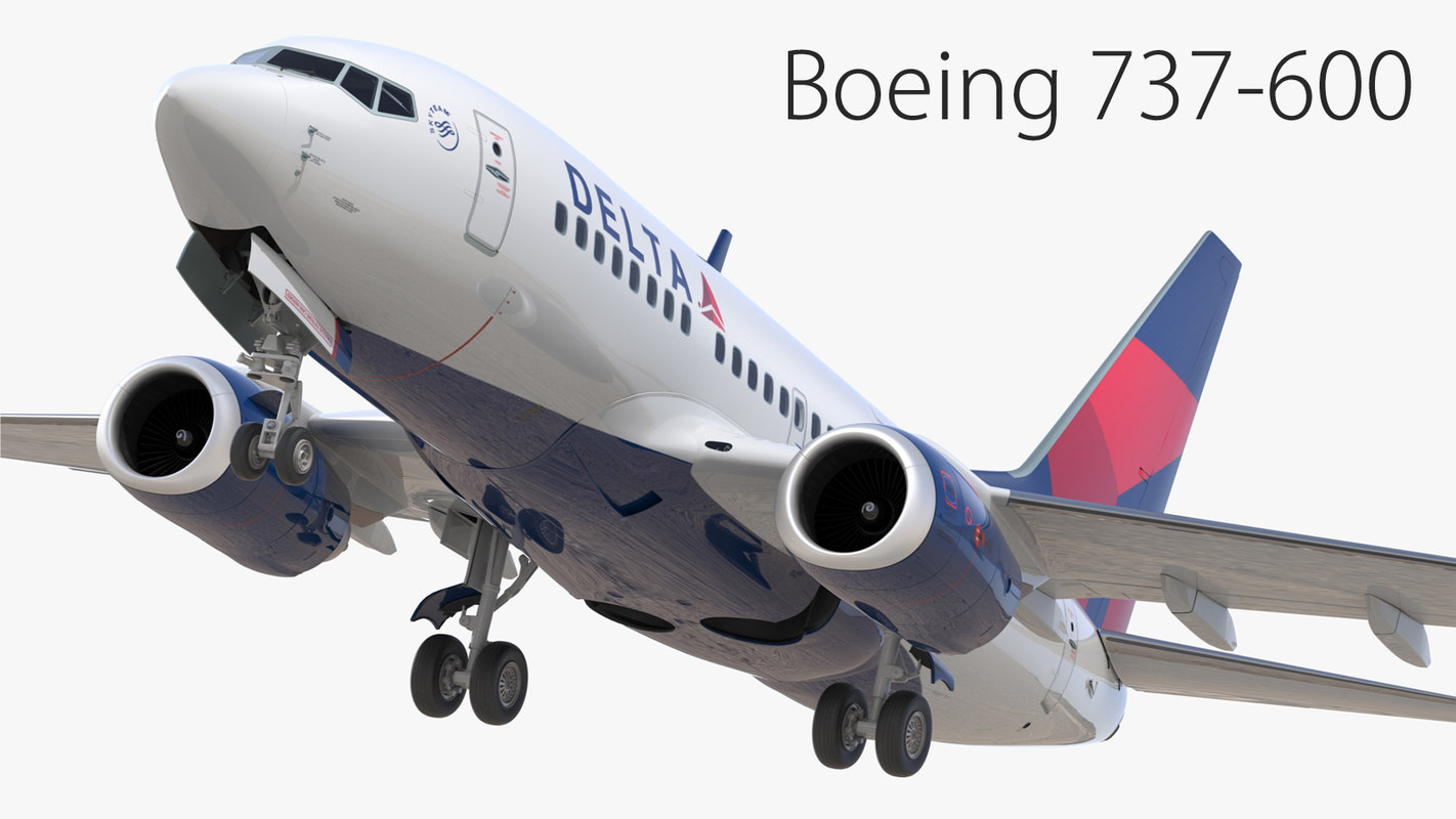 3D boeing 737-600 delta airlines