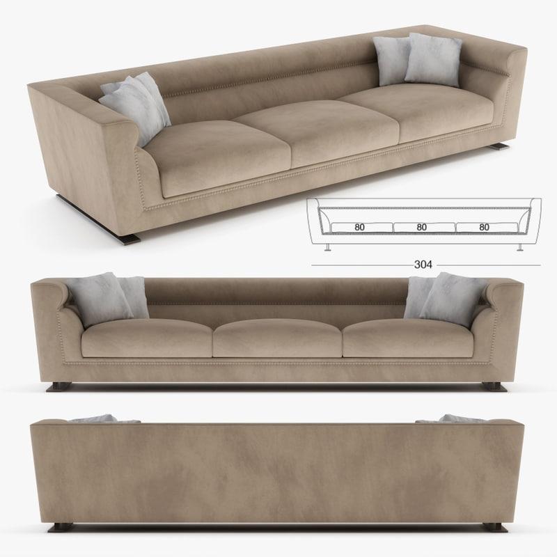 3D longhi sofa model
