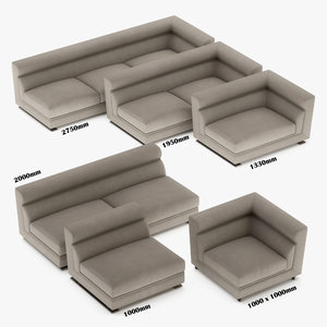 3D model longhi sofa