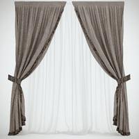 2 curtains 3D