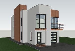 3D modern house