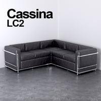 cassina le corbusier lc2 model