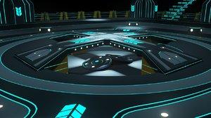 3D model si-fi scene