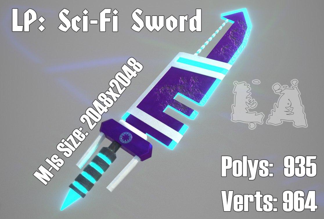 3D sci-fi sword
