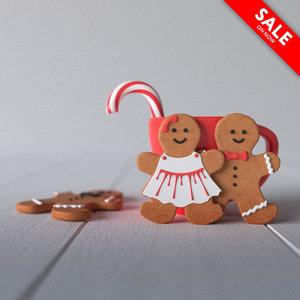 gingerbreads corona 3D model