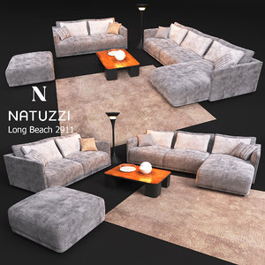 3D sofa natuzzi long beach