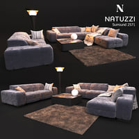 3D model sofa natuzzi surround 2571