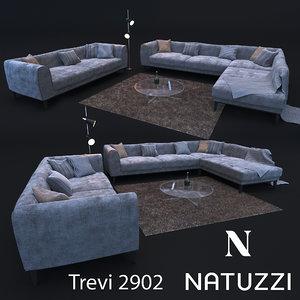 3D sofa modern style natuzzi model