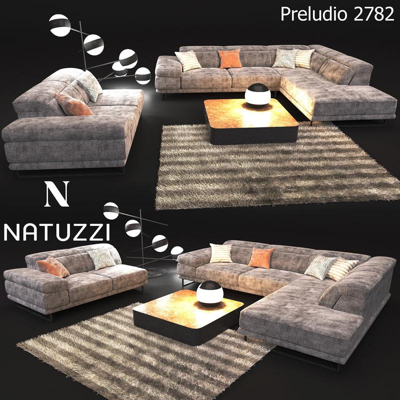 sofa modern style natuzzi 3D